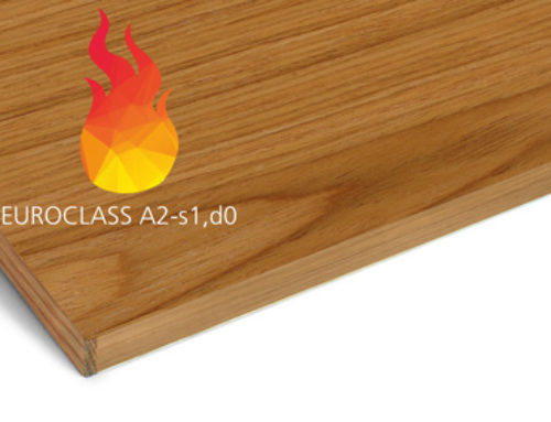 Gustafs now offer fire class A2-s1,d0 on wooden panels