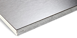 Gustafs Panel surface HPL Metal immitation