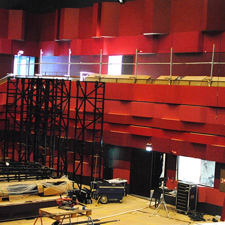 Construction of concert hall at royal college of music