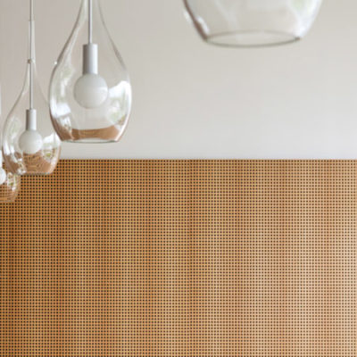 Wooden perforated panel