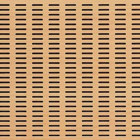 Slot perforated acoustic panel