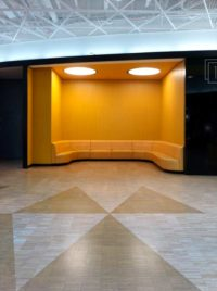 Yellow veneer panels at Emporia Shopping Center