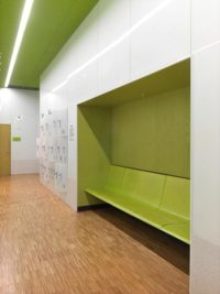 green stained panels designed by wingårdhs