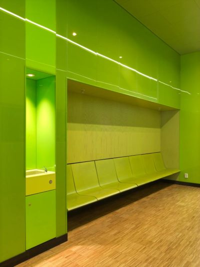 Stained panels at Emporia shoppingcenter by architect Wingårdhs
