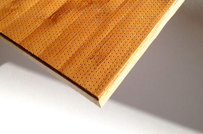 micro perforated wooden acoustic panel