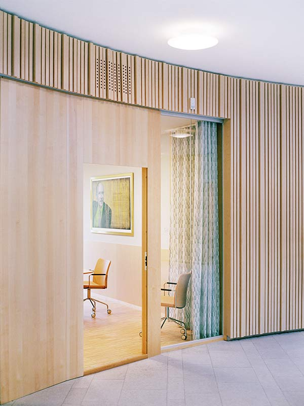 Creative office design linear ribs from gustafs