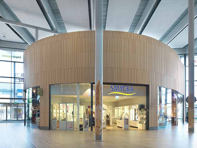 Store exterior in Stockholm mall