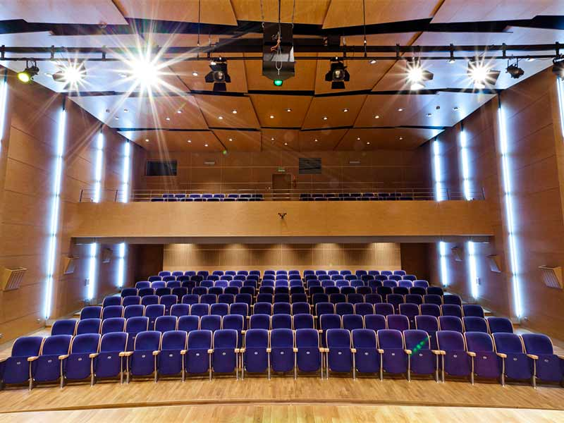 Gustafs panels at auditorium in Poland