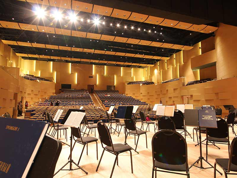 Gustafs acoustic panels at Philharmonia thatre in Moscow