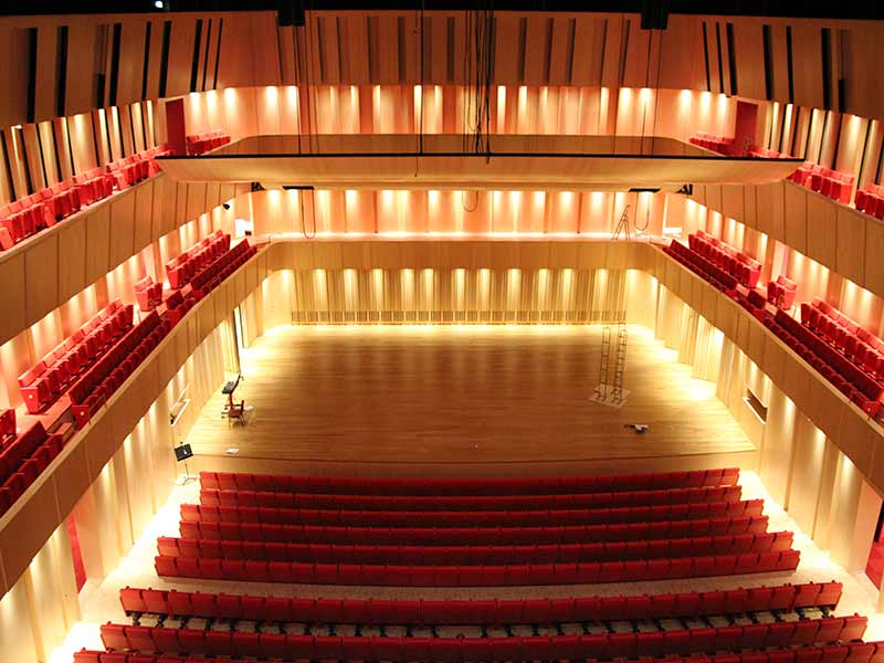 One of all Gustafs concert halls in real wooden panels with excellent acoustic properties