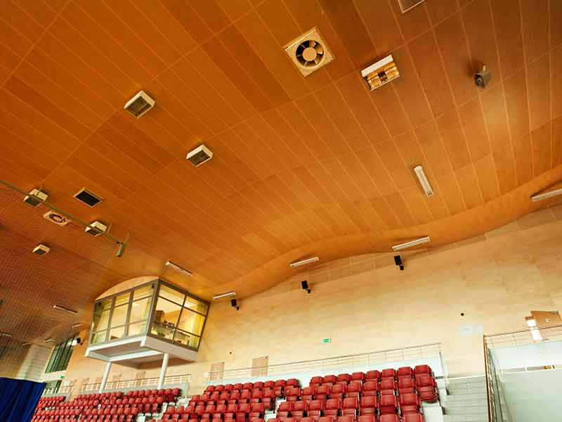 Perforated panels for ceilings in Poland