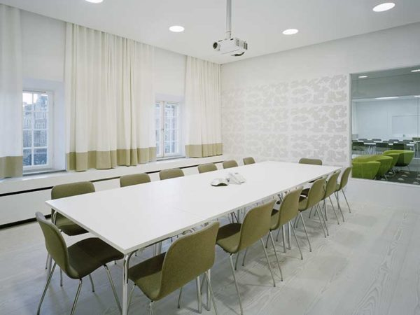 Gustafs panels as interior at the swedish association of architects office in Stockholm