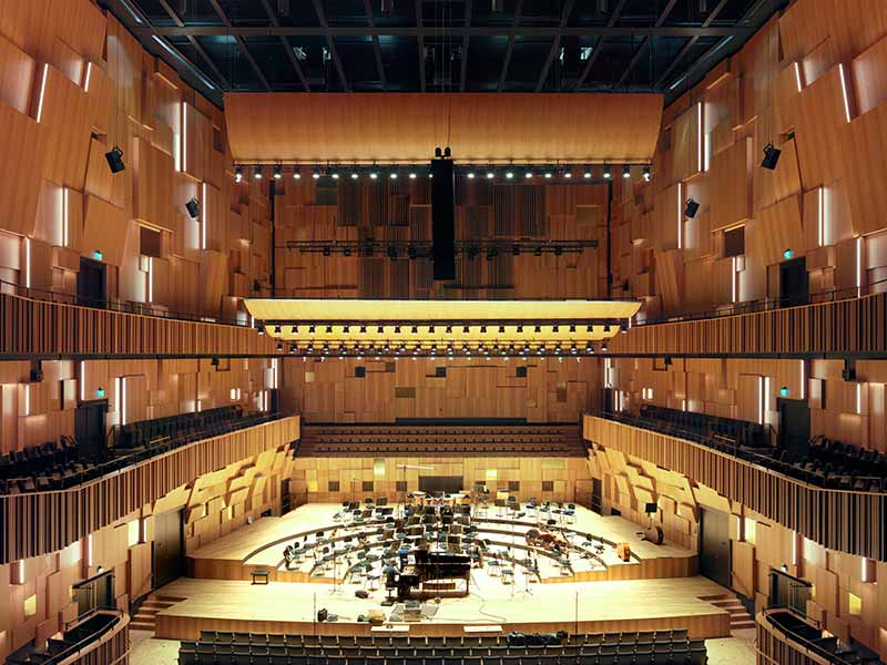 View over Malmö Live Concert Hall