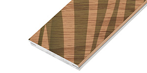 Linear plank in printed veneer