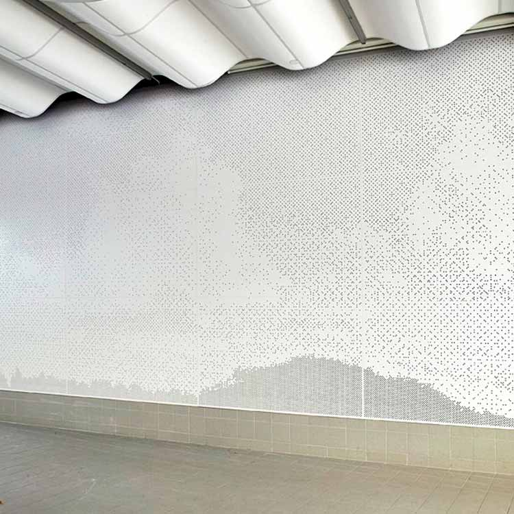 Decorative wall panels with acoustic perforation
