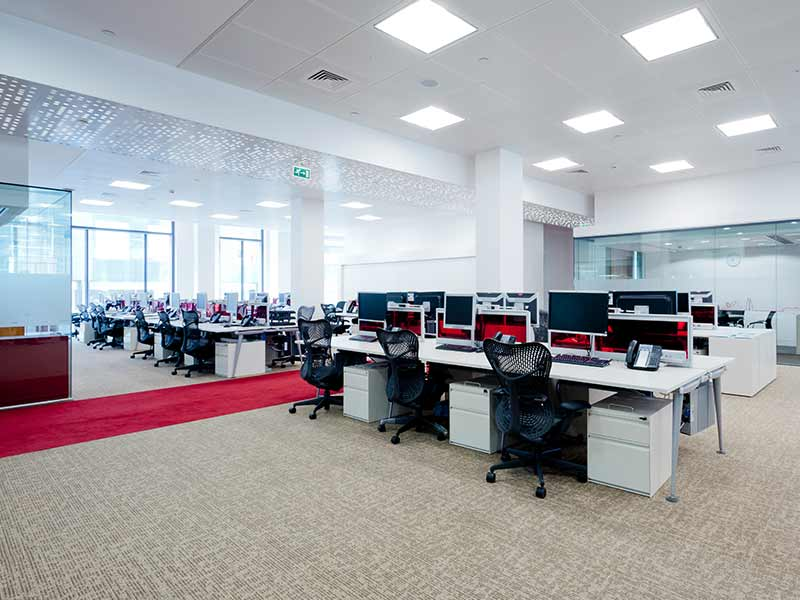 Catlin insurance with Washington perforated ceiling panels