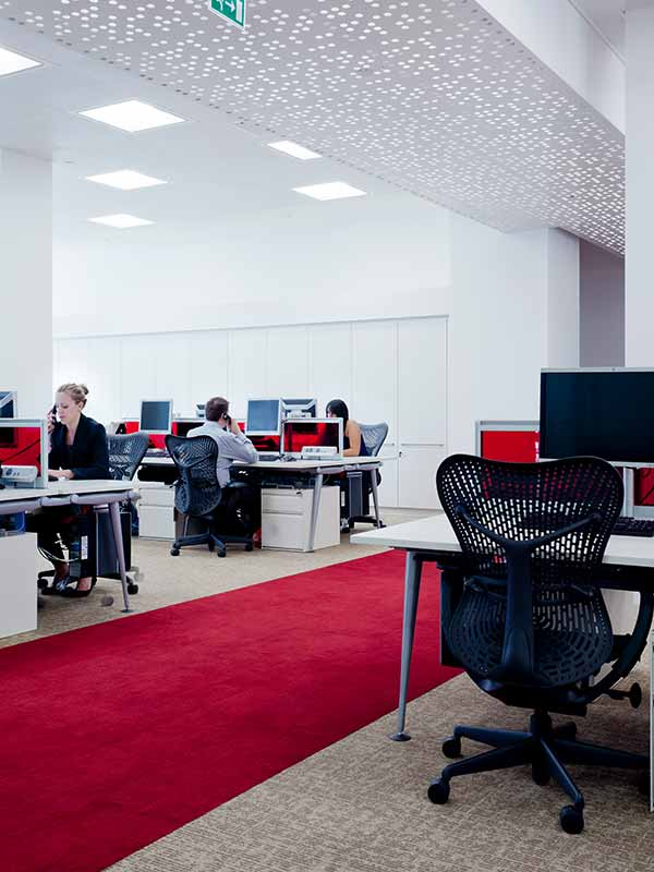 Bespoke perforation pattern at office in UK