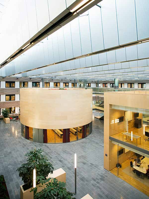 Curved panel installation in Denmark