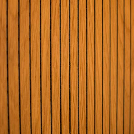 Stripe perforated wooden panel for wall and ceiling cladding