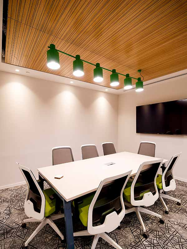 Ceiling panels for office interior