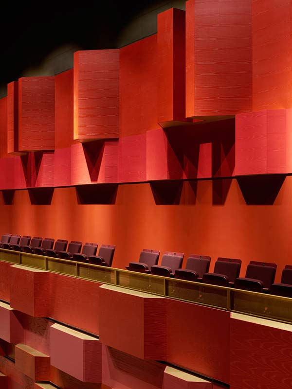 Bespoke wooden panels at Royal college of music