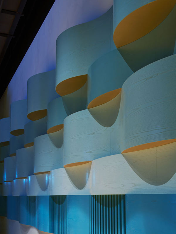 Bespoke acoustic panels designed by AIX architects