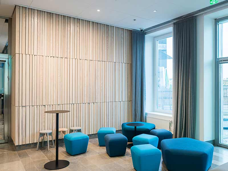 Desgined wall cladding with Gustafs panels