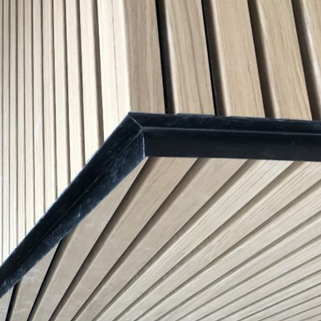 Installation details for rib cladding