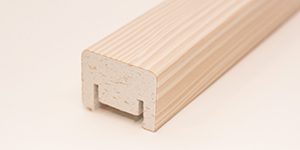 White pigmented wooden rib