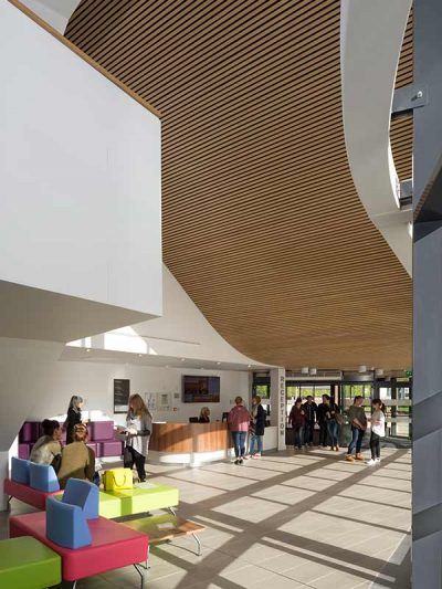 Ceiling installation of wooden cladding