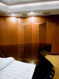Acoustic diffuser at concert hall