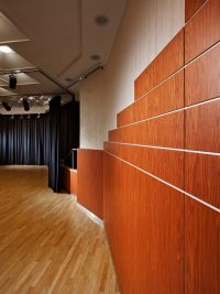 bespoke wooden interior with acoustic preferences