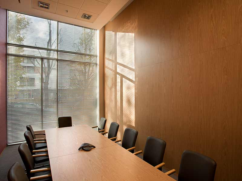 Decorative wooden panels for office interior