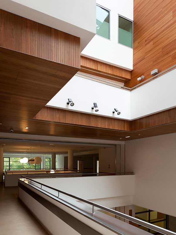 Acoustic perforated wooden panelling