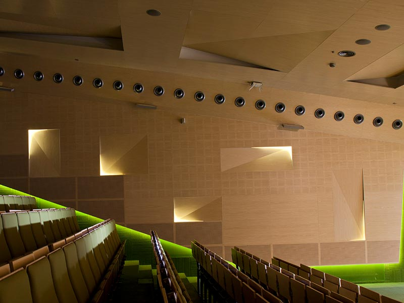 Decorative acoustic perforated panels