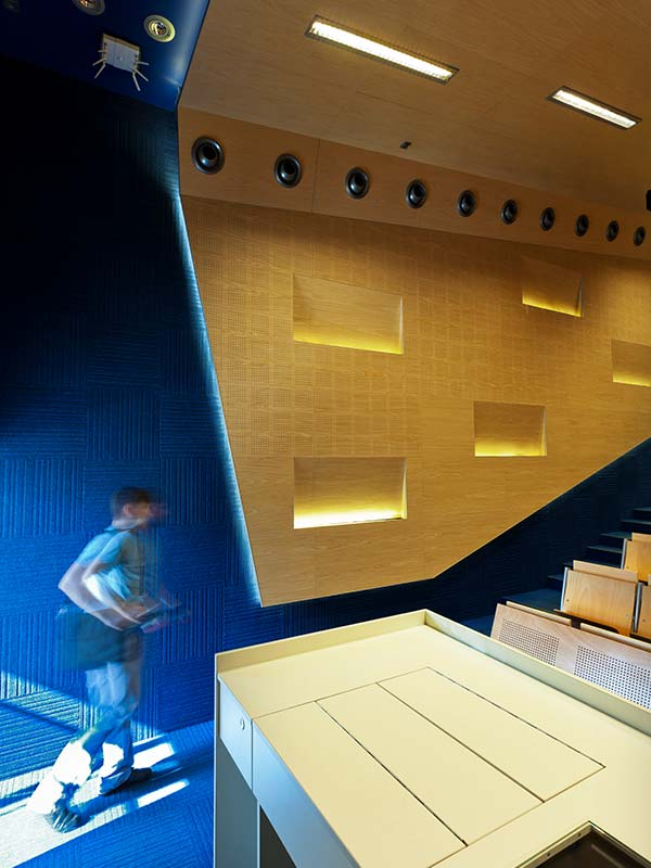 Acoustic perforated panels with integrated light