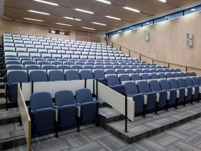 Auditorium at Miurhead Tower with acoustic perforated panels