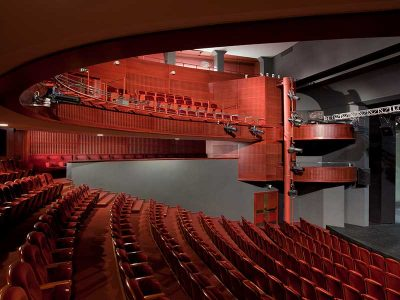 Wybryzeze theatre cladded with Gustafs acoustic panels