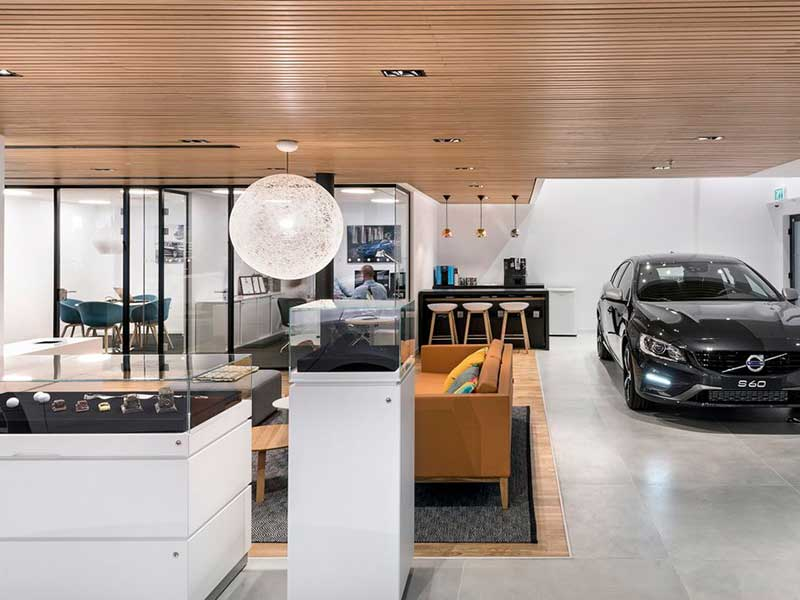 Volvo showroom i Israel
