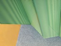 Perforated decorative acoustic panels