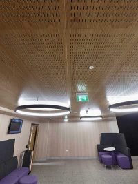 acoustic ceiling panels with sm5 perforation