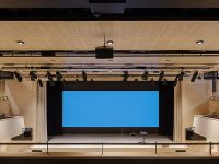 Perforated acoustic ceiling at Borås Congress