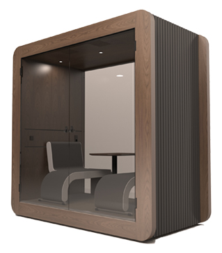 Gpod Linear Walnut Dark acoustic meeting pod