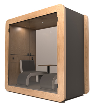 Gpod Nano Oak Dark acoustic meeting pod