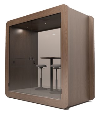 Gpod Nano walnut acoustic meeting pod