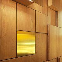 Veneered wooden wall panels
