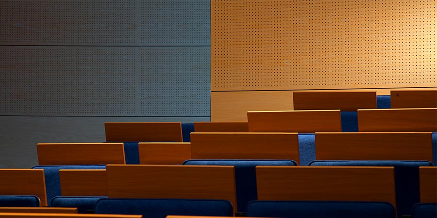 Acoustic wood panels for auditoriums