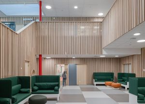Solid timber panels in school environment
