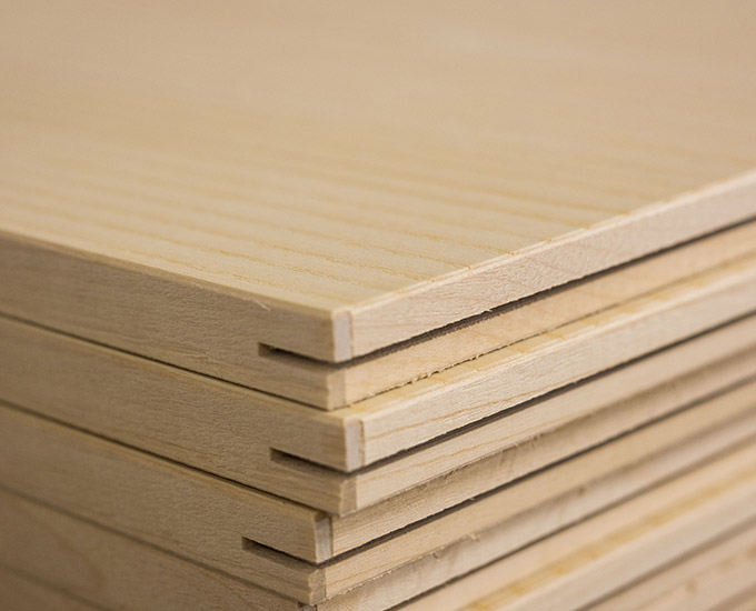 Gustafs wooden panels with solid wood edging