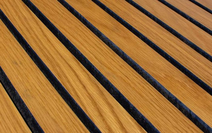Timber slat panel with fire classification A2-s1,d0 from Gustafs